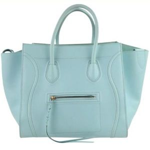 Céline Cabas Phantom Luggage Medium Blue T…